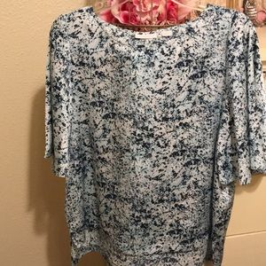 NYC blue and white blouse EUC